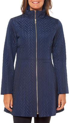 Kate Spade Fit-And-Flare Quilted Zip Jacket