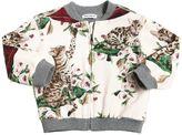 Dolce & Gabbana Cat Printed Cotton Sweatshirt