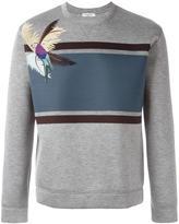 Valentino parrot print sweatshirt