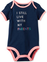 Carter's I Still Live With My Parents Cotton Bodysuit, Baby Girls (0-24 Months)