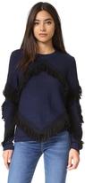 Tanya Taylor Fringe Cha Cha Sweater