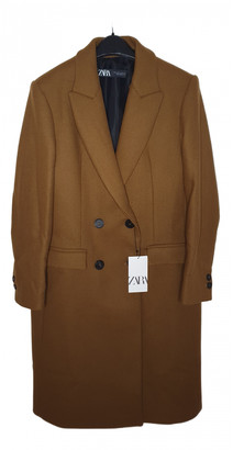 Zara Brown Wool Coats