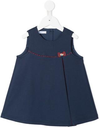 Familiar Checked Bow Trim Dress