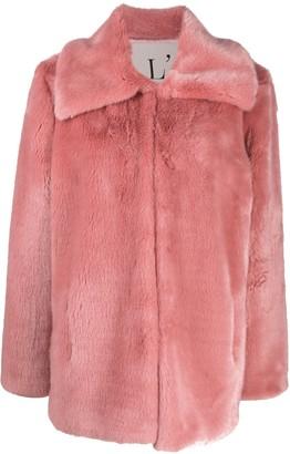 L'Autre Chose Faux Fur Coat