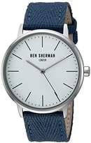 Ben Sherman Men's 'Portobello Social' Quartz Stainless Steel and Canvas Watch, Color:Blue (Model: WB009UA)