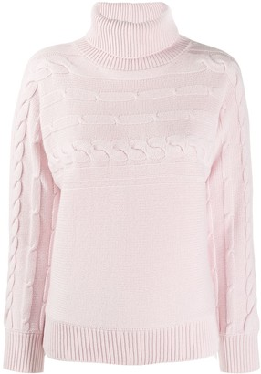 Peserico cable knit turtleneck jumper