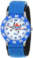 """Disney Kids' W000880 """"Planes Fire & Rescue"""" Stainless Steel Watch with Blue Nylon Band"""