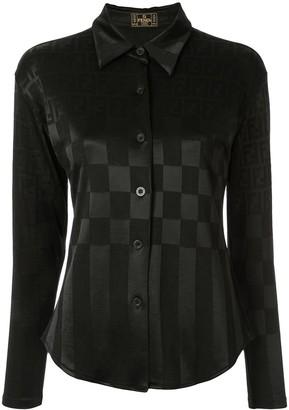 Fendi Pre Owned FF pattern check shirt