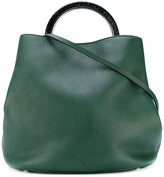 Marni Pannier tote bag - women - Calf Leather/Snake Skin/Brass - One Size