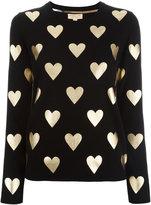 Burberry metallic hearts jumper - women - Merino - M