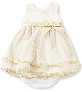 Rare Editions Baby Girls 3-24 Months Metallic-Bodice Ballerina-Skirted Dress