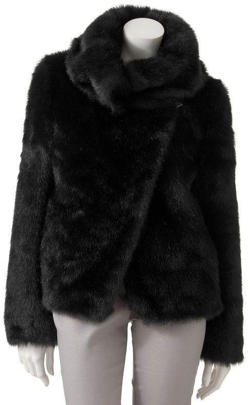 JLO by Jennifer Lopez faux-fur coat