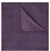 Moss Bros Mens Purple Geo Silk Pocket Square