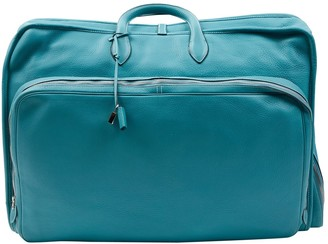 Hermes Blue Leather Travel bags