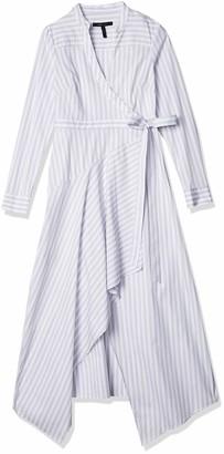 BCBGMAXAZRIA Women's Stripe WRAP Dress