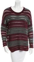 John & Jenn by Line Open Knit Crew Neck Sweater w/ Tags
