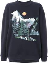 See by Chloe mountain scene sweatshirt