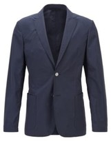 BOSS Slim-fit jacket in a cotton blend