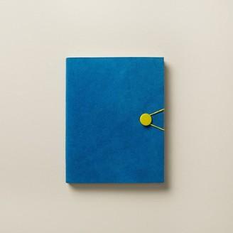 Indigo Paper Large Suede Elastic Button Journal Colour Pop Cobalt Blue