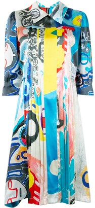 Charles Jeffrey Loverboy Abstract Print Dress