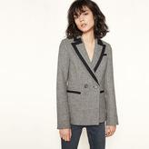 Maje Wool blazer with contrasting trim
