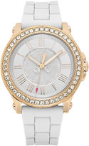 Juicy Couture Watch, Women's Pedigree White Silicone Strap 38mm 1901052
