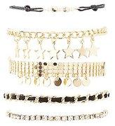 Charlotte Russe Star Charm Layering Bracelets - 5 Pack