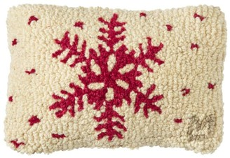 L.L. Bean Wool Hooked Throw Pillow, Red Flake