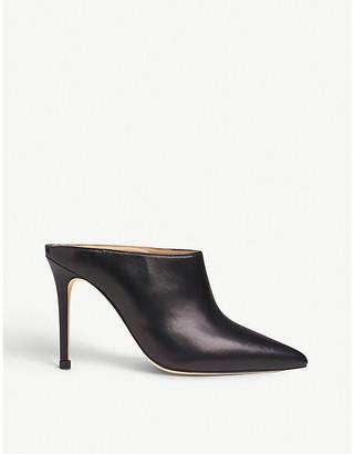 LK Bennett Hannah leather heeled mules