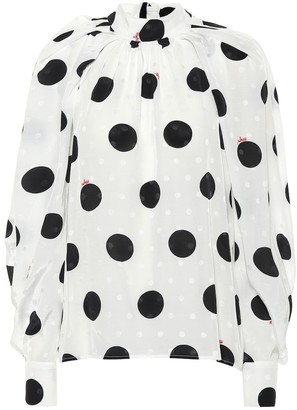 MSGM Polka-dot blouse