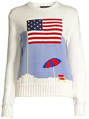 Polo Ralph Lauren Women's Long-Sleeve Flag Sweater