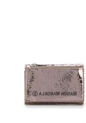 MM6 MAISON MARGIELA metallic sheen zipped wallet