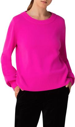 Akris Punto Wool-Cashmere Crewneck Sweater