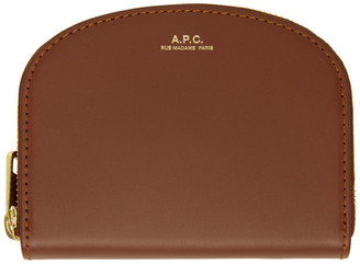 A.P.C. Brown Demi-Lune Coin Wallet