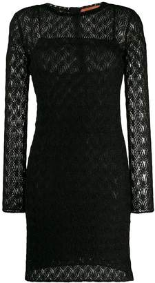 Missoni long sleeved evening dress