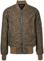 Amiri leopard print bomber jacket