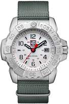 Luminox Men's 'SEA' Swiss Quartz Stainless Steel and Nylon Casual Watch, Color:Grey (Model: 3257)