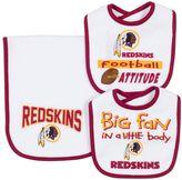 Gerber Baby Washington Redskins 3-Piece Bib & Burpcloth Set