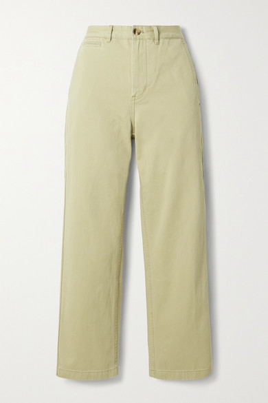 Denimist Pierce Cropped Cotton-twill Straight Leg Pants - Sand