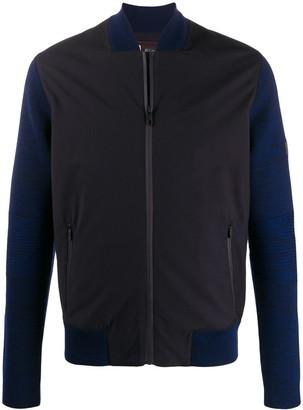 Ermenegildo Zegna Contrast Design Bomber Jacket