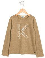 Kenzo Girls' Metallic-Accented Printed Top