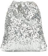Simonetta sequinned backpack - kids - Elastodiene/Polyester - One Size