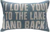 Thewatsonshop Love You To The Lake And Back Linen Pillow