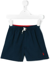 Ralph Lauren embroidered logo swim shorts - kids - Polyester - 6 yrs