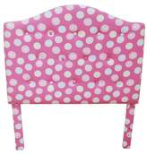 HomePop Twin Tufted Headboard Pink/White Dots