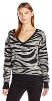 Calvin Klein Jeans Women's Animal Print Jacquard Sweater