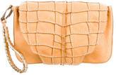 Roberto Cavalli Textured Leather Clutch