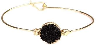 Riah Fashion Wired Round-Resin Druzy-Bracelet