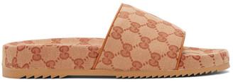 Gucci Beige GG Sideline Sandals