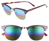 Ray-Ban Women's Standard Clubmaster 51Mm Mirrored Rainbow Sunglasses - Blue Rainbow